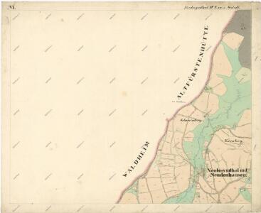 Katastrální mapa obce Nový Losimtál (Jedlina) WC-XVI-21 df