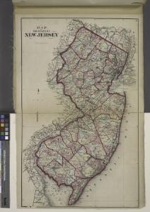 Map of The State of New Jersey
