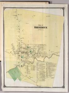 Plan of Rhinebeck, New York.