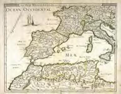 La mer Mediterranée vers l'occident