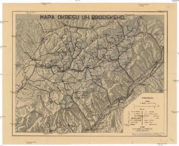 Mapa okresu uh. brodského
