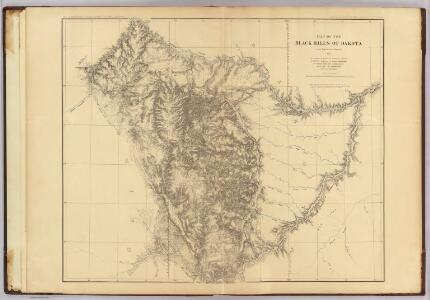 Map of the Black Hills of Dakota.