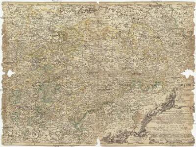Neue und accurate Landkarte des Mittägig- Ober- Sächsischen R. Reichs- Creyß