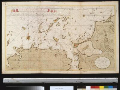 De haven van St. Malo ent incoomen vande rivier Dinan int Canaal aen de kust van Bretagne
