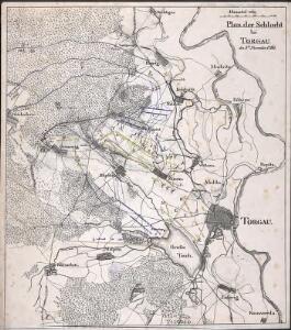 Plan der Schlacht bei Torgau, den 3ten November 1760