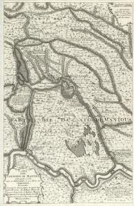 Carta delli Contorini di Mantoua nella quale si vede tutto il Seraglio et una Parte de Veronese