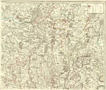 Le Duché de Luxembourg divisé en Quartier Walon et Allemand