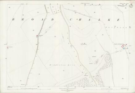 Wiltshire LXX.11 (includes: Broad Chalke) - 25 Inch Map
