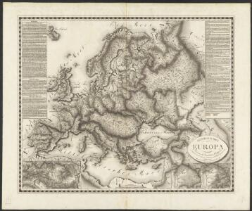 General Karte von Europa, worinnen die Gestalt dieses Erdtheiles zu ersehen ist, wie selbe nach seinem Höhensisteme und Wasserzuge angeordnet ist