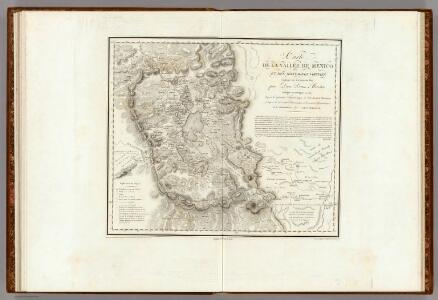 Carte De La Vallee De Mexico.
