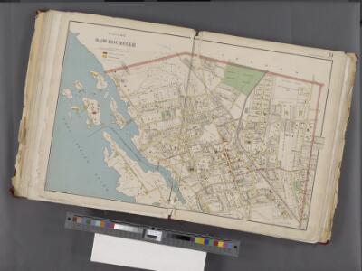 Westchester, Double Page Plate No. 14 [Map bounded by Pelham Winthrop St., Echo Ave., Long Island Sound] / prepared under the direction of Joseph R. Bien, from general surveys and official records.