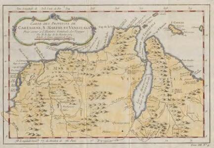 Carte des Provinces de Cartagene, S Marthe et Venezuela
