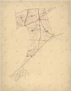 Mapa části polesí Olšany