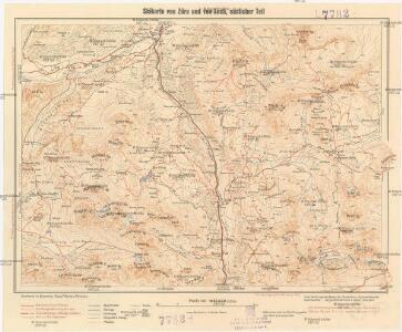 Skikarte von Zürs und von Lech, südlicher Teil