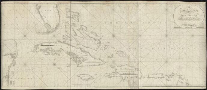 A new chart of the West Indies including the Florida Gulf and Stream