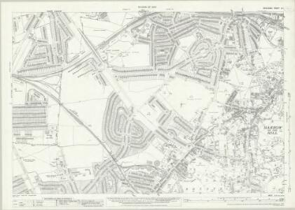 Middlesex X.11 (includes: Harrow) - 25 Inch Map