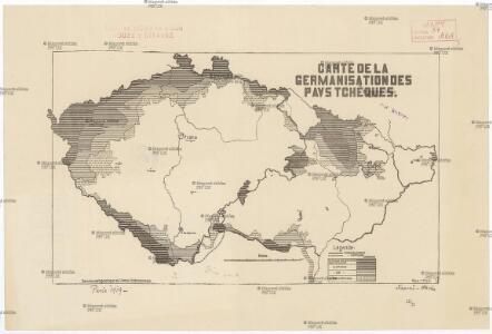 Carte de la germanisation des pays tchéques