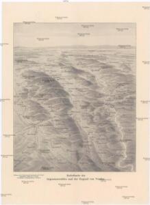 Reliefkarte des Argonnenwaldes und der Gegend von Verdun