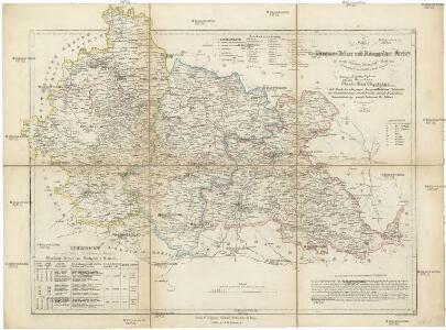 Karte des Bunzlauer- Jičiner- und Königgrätzer Kreises im oestreichischen Kronlande Boehmen