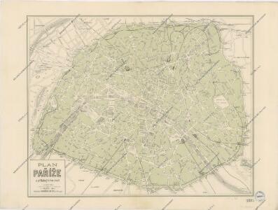 Plán Paříže a přiléhajícího okolí