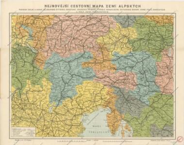 Nejnovější cestovní mapa zemí aplských