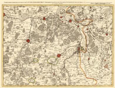 Carte Particuliere des Environs de Louvain, Aerschot, Diest, Tirlemont, Leau, Iudogne, Malines, et de Partie du Pays de Liege