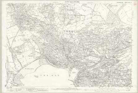 Devon CXVI.14 (includes: Torquay) - 25 Inch Map