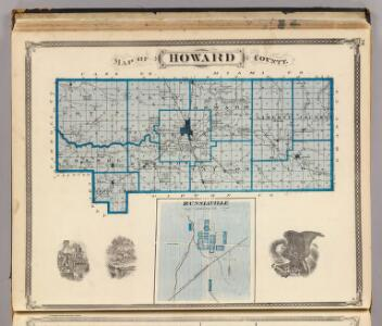 Map of Howard County (with) Russiaville.
