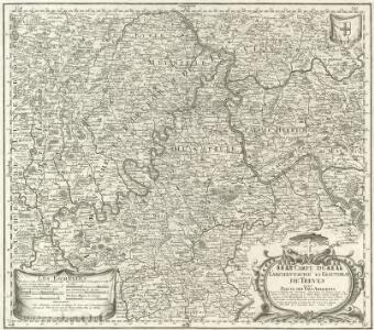 Carte de l'Archevesché et Electorat de Treves Avec Partie des Pays Adiacents