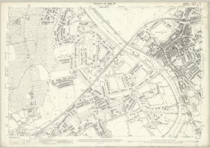 London (Edition of 1894-96) CX (includes: Heston and Isleworth; Richmond; Twickenham St Mary The Virgin) - 25 Inch Map
