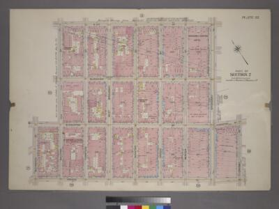 Plate 22, Part of Section 2: [Bounded by W. 3rd Street, Broadway, E. Houston Street, Prince Street, Macdougal Street, W. Houston Street and Sullivan Street.]