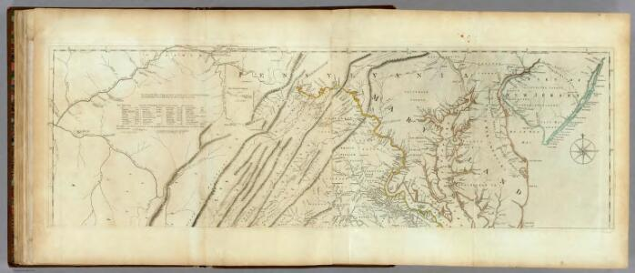 Map of the most Inhabited part of Virginia containing ... Maryland. (Northern Section)