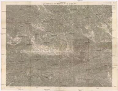 Specialkarte zu den Manövern des 3. Corps 1891