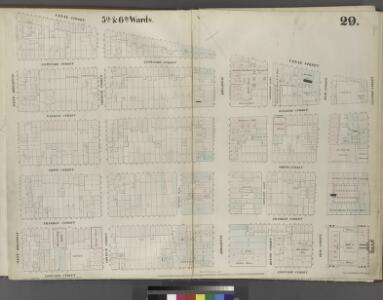 Plate 29: Map bounded by Canal Street, Centre Street, Leonard Street, West Broadway.