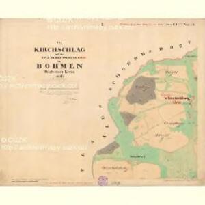 Kirchschlag - c7621-1-001 - Kaiserpflichtexemplar der Landkarten des stabilen Katasters