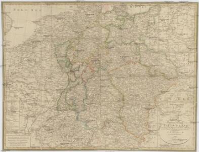General Charte von Teutschland mit Angabe aller Post-Strassen von Paris bis Warschau, und von Triest bis Stralsund