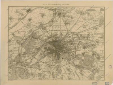 Karte der Befestigung von Paris