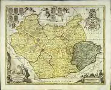 Leicestrensis comitatvs cum Rvtlandiæ vulgo Leicester [and] Rutland Shire