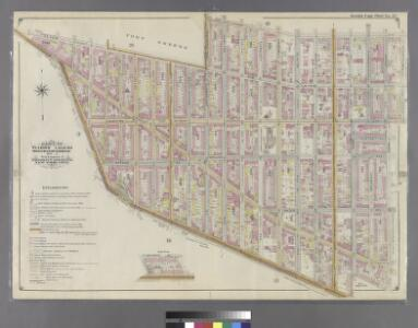 Double Page Plate No. 27: [Bounded by Willoughby Avenue, Steuben Street, Lafayette Avenue, Grand Avenue, Atlantic Ave (Jamaica Turnpike), Flatbush Avenue, Fulton Street, (Fort Green) Dekalb Avenue and Washington Park.