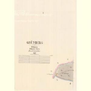 Grünberg - c9244-1-001 - Kaiserpflichtexemplar der Landkarten des stabilen Katasters