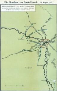Die Einnahme von Brest-Litowsk. (26. August 1915.)