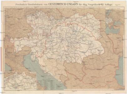 Prochaska's Eisenbahnkarte von Oesterreich-Ungarn für 1894