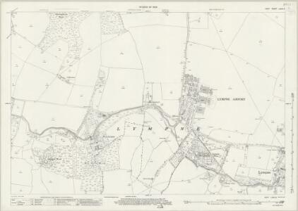 Kent LXXIV.9 (includes: Lympne) - 25 Inch Map