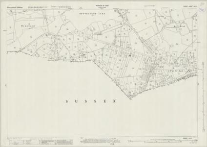 Surrey XLII.11 (includes: East Grinstead; Godstone; Horne; Worth) - 25 Inch Map