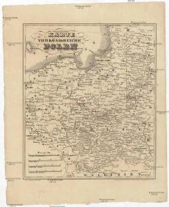 Karte vom Königreiche Polen