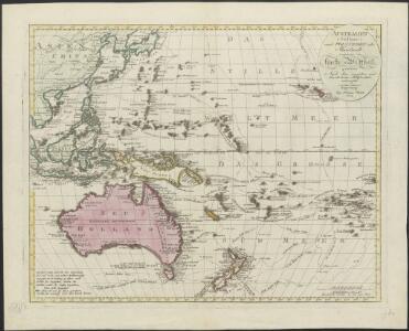 Australien (Südland) auch Polynesien oder Inselwelt, insgemein der fünfte Welttheil genannt : nach den neuesten und bewährtesten Hülfsmitteln entworfen