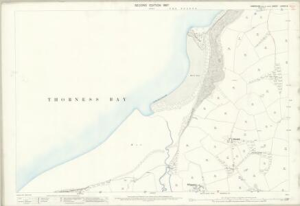 Hampshire and Isle of Wight LXXXIX.8 (includes: Calbourne; Cowes) - 25 Inch Map