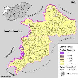 Kroaten in West-Ungarn 1941