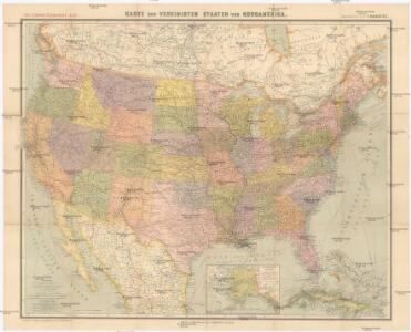 Karte Der Vereinigten Staaten Von Nordamerika