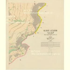 Klein Aurzim (Maly Auřim) - c4462-1-006 - Kaiserpflichtexemplar der Landkarten des stabilen Katasters